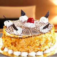 Eggless ButterScotch Cake