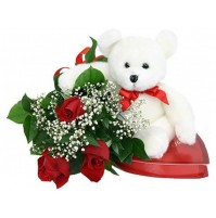 Sparkling Roses with Teddy