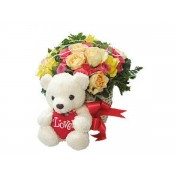 Teddy With Flowers