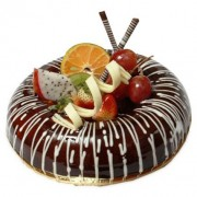 Yummy Chocolate FRUIT  Cake