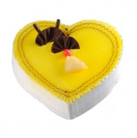 HEART SHAPE PINE APPLE JELLY CAKE