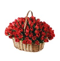 Sensational Red Rose Love Basket