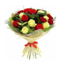 12 Red & Yellow RoseS