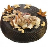 Chocolate Cake with Dry Fruit