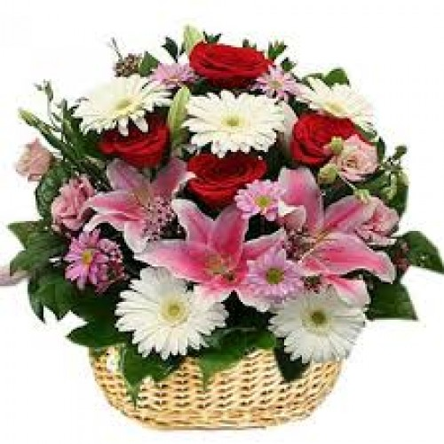 Charismatic Basket of Exotic Flowers