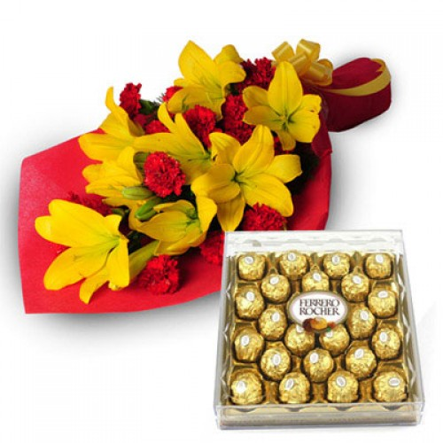 EXOTIC BUNCH WITH FERRARO ROCHER BOX