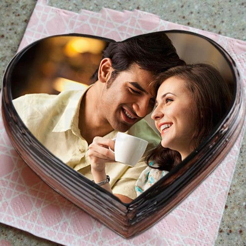 Photo Love Chocolate Cake