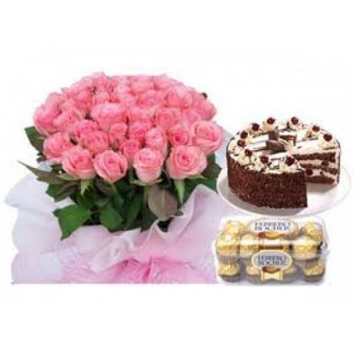 Flower with Cake n Chocolate